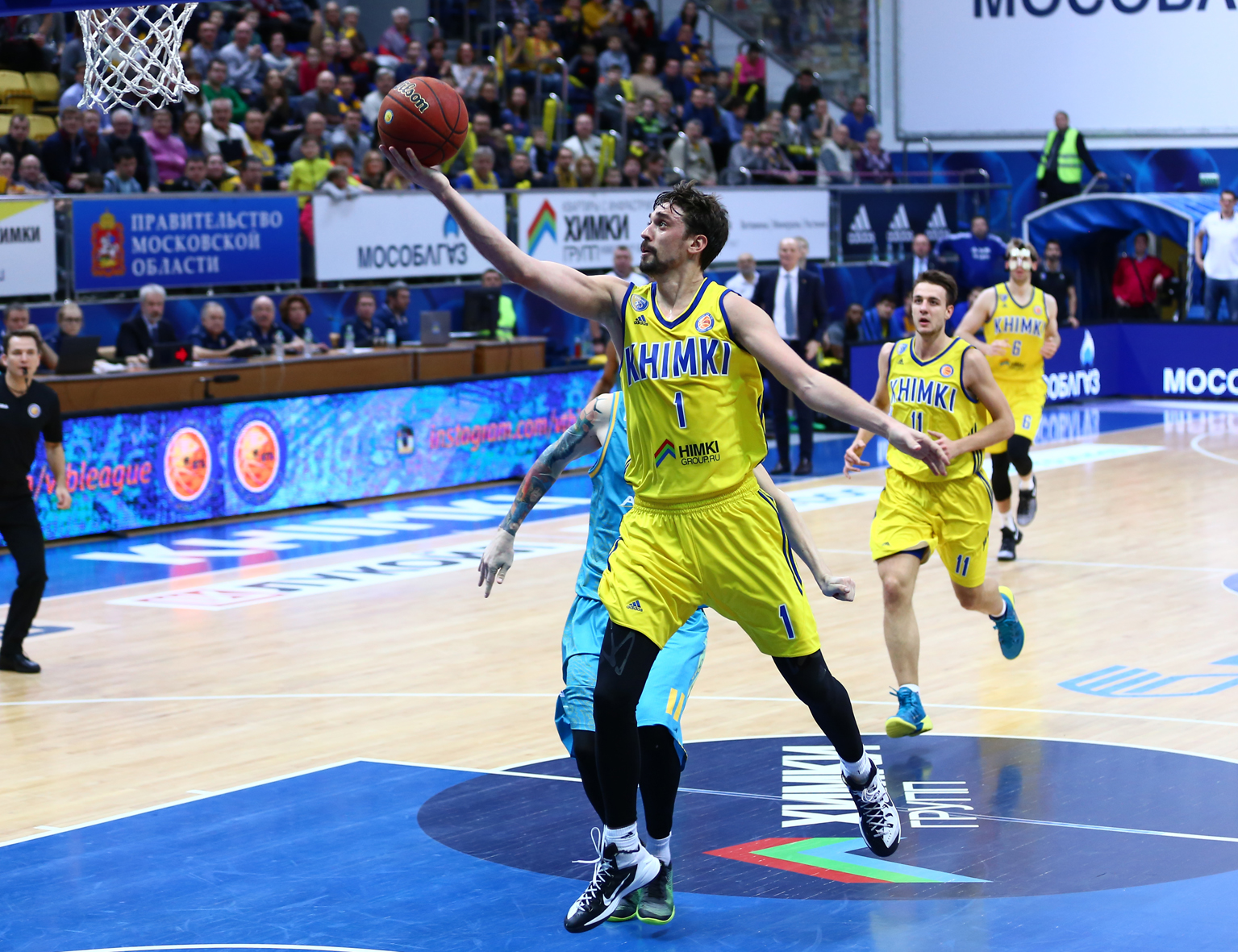 Khimki Rebounds In Win vs. Astana