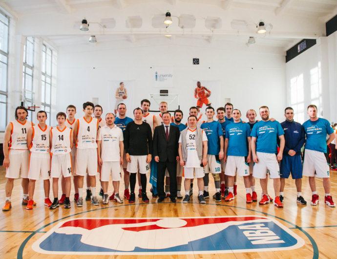 Sergei Ivanov, Vladimir Yakushev, Dmitry Konov and Sergey Kushchenko Visit Tobolsk's School Of Basketball