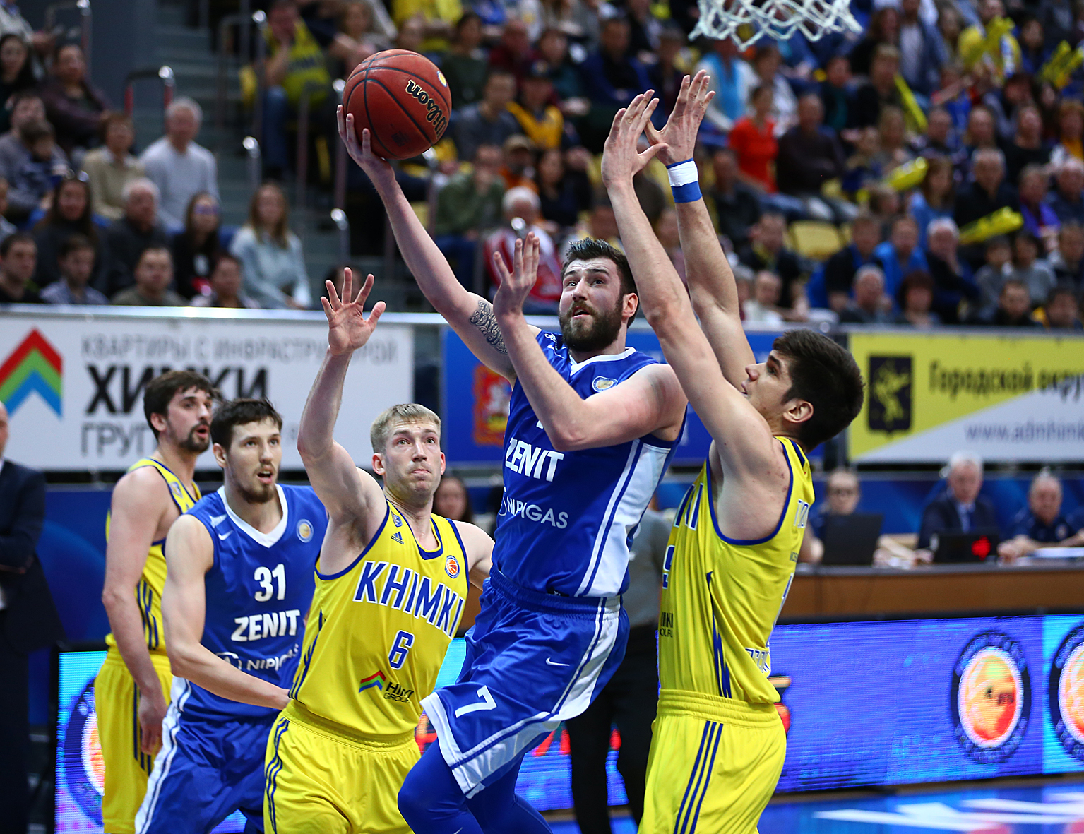 Zenit Downs Khimki Behind Karasev's 23