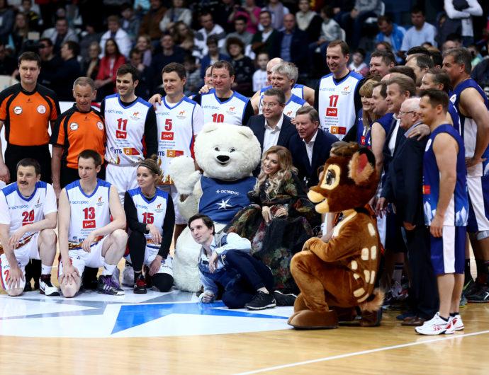 Руководители Лиги приняли участие в благотворительном матче «Звезды баскетбола»
