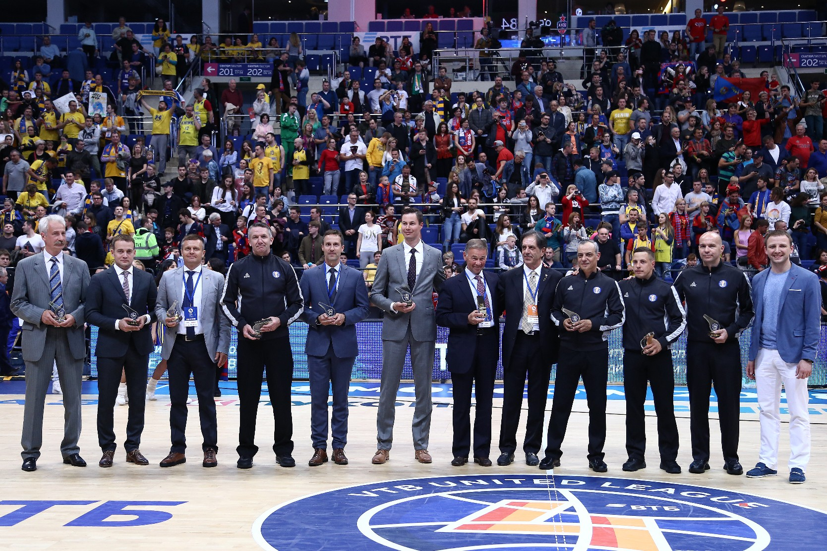 League Recognizes Referees And Commissioners At Final Four