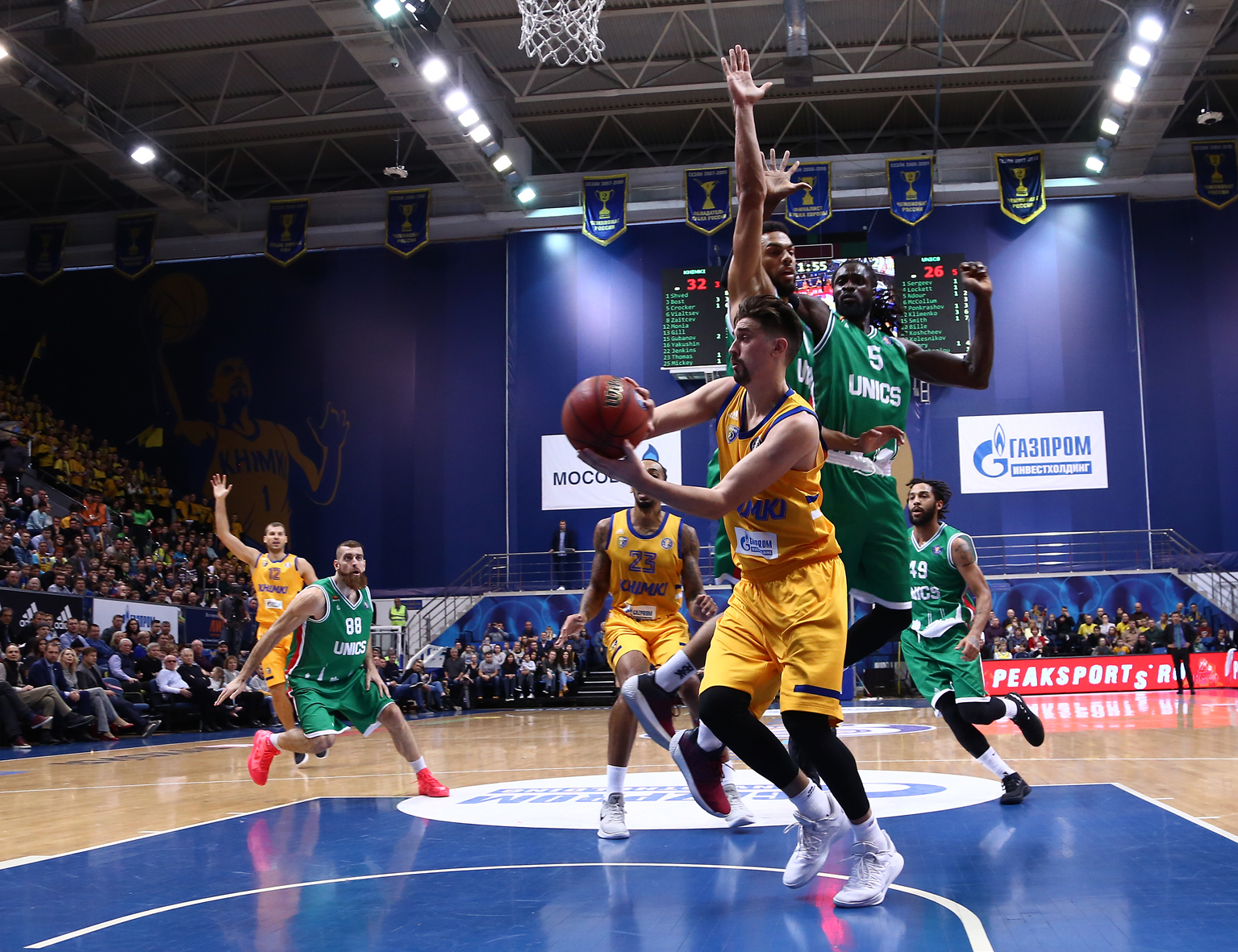 Khimki Takes Down UNICS, Moves Into 1st