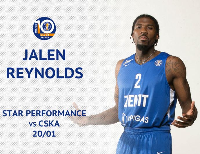 Star Performance: Jalen Reynolds vs. CSKA