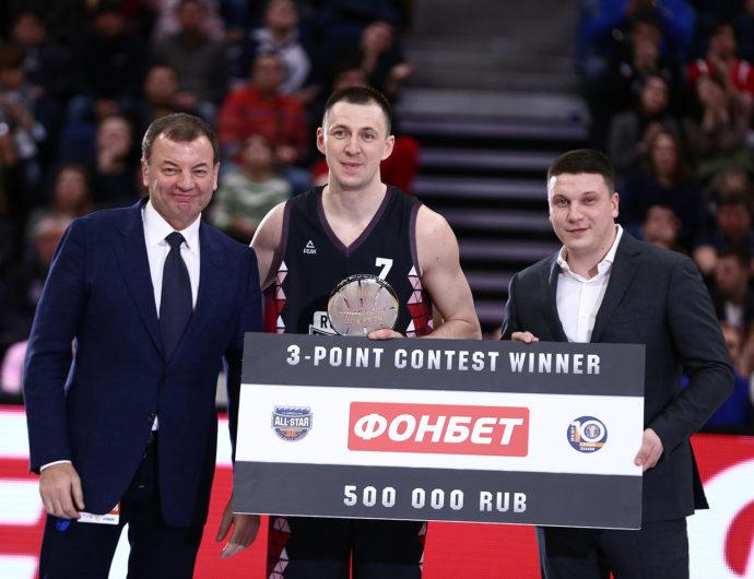 Виталий Фридзон — победитель конкурса трехочковых
