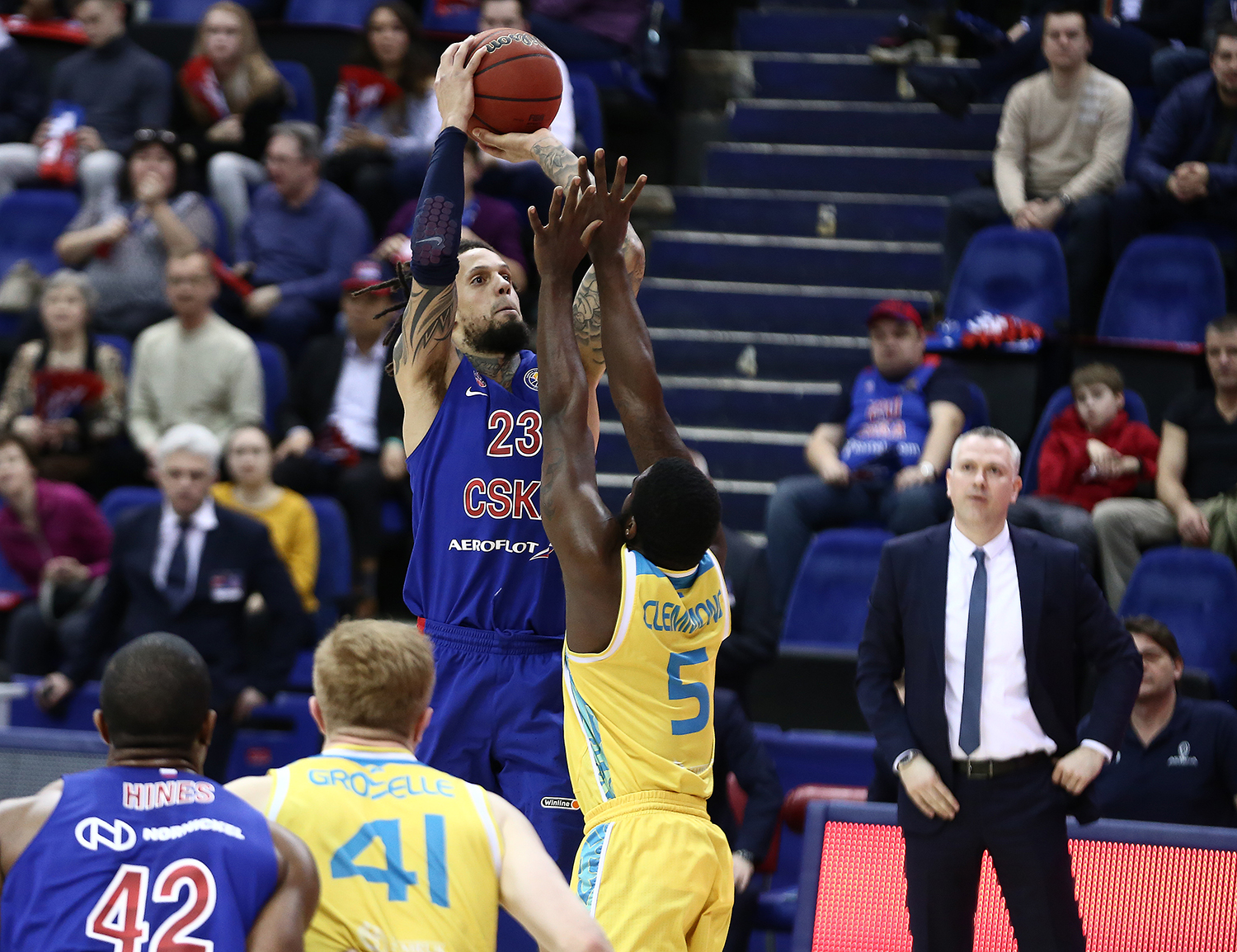 CSKA Thrashes Astana In Regular-Season Finale