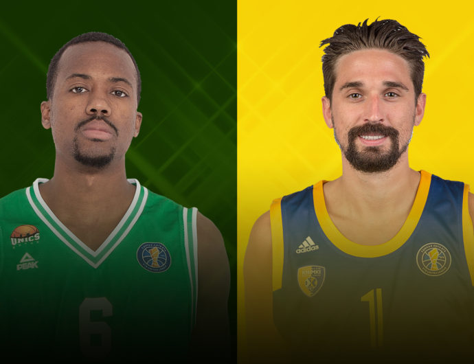 UNICS's Errick McCollum And Khimki's Alexey Shved Duel In Kazan