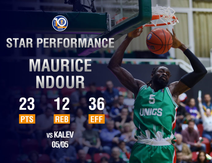 Maurice Ndour Records Second-Highest Efficiency Rating In Playoff History