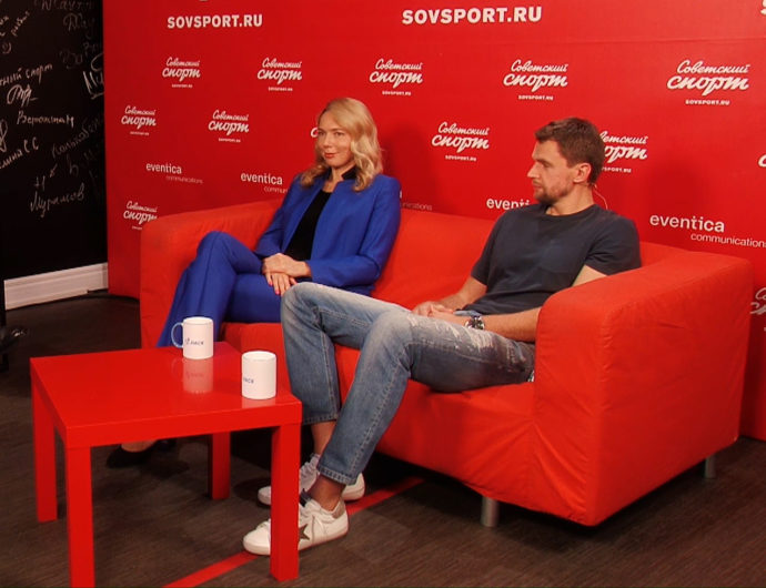 """""""VTB League grows with the help of the competition among clubs"""". Ilona Korstin and Egor Vialtsev are in Soviet Sport studio"""