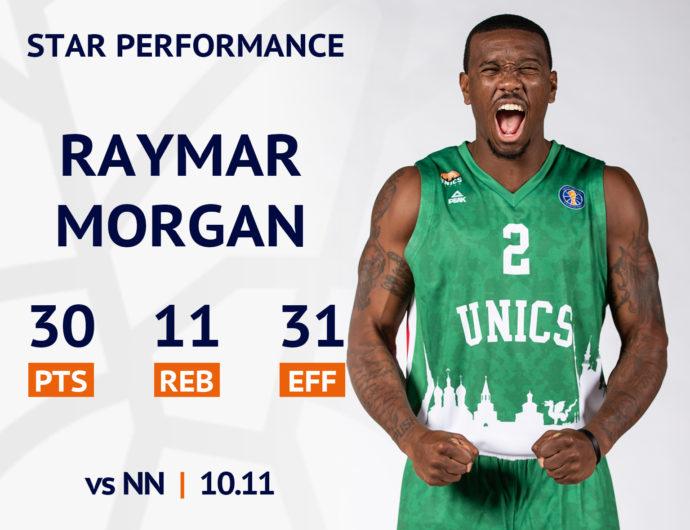 Star performance. Raymar Morgan vs Nizhny Novgorod