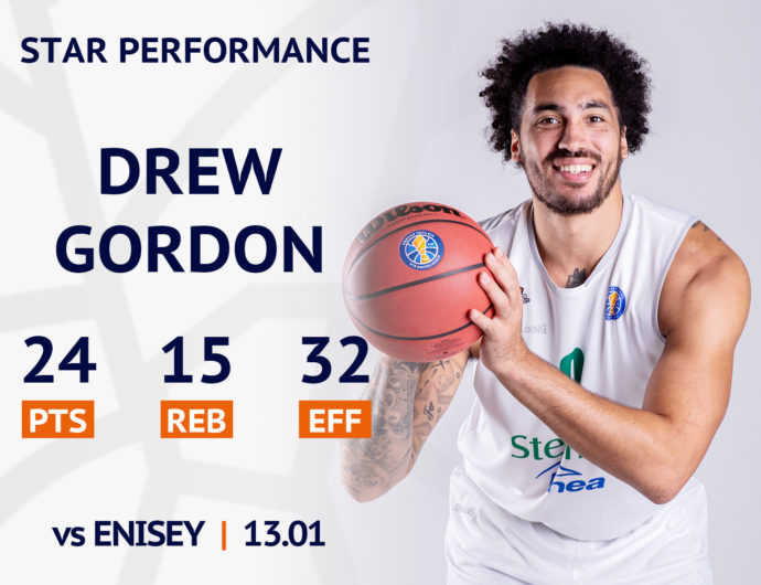 Star performance. Drew Gordon vs Enisey