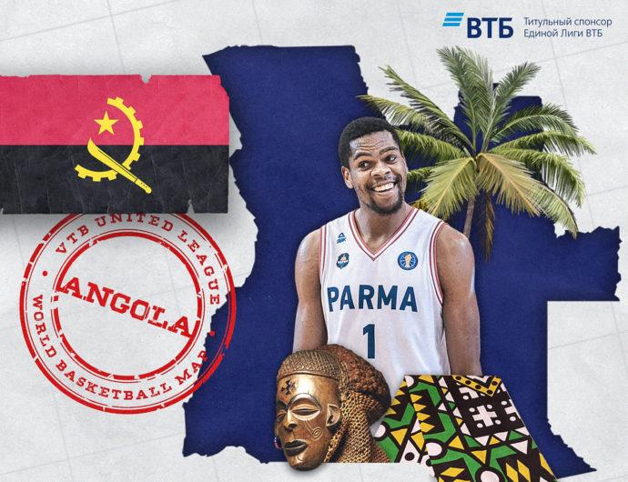World basketball map: Angola