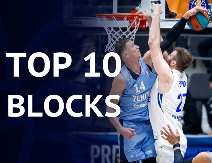 Top-10 blocks of the season