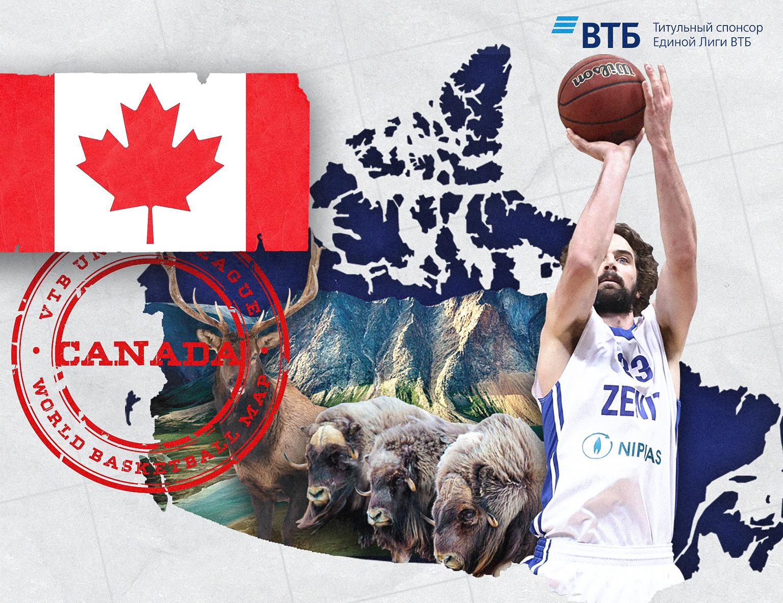 World basketball map: Canada