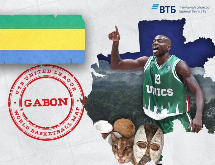 World basketball map: Gabon