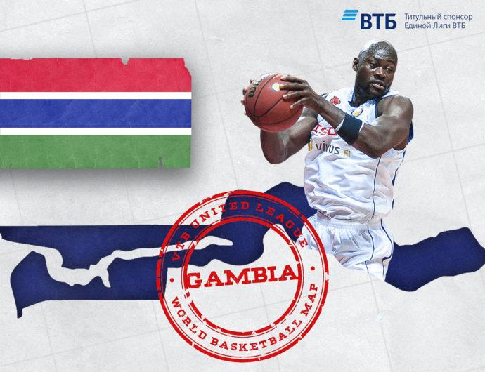 World basketball map: Gambia