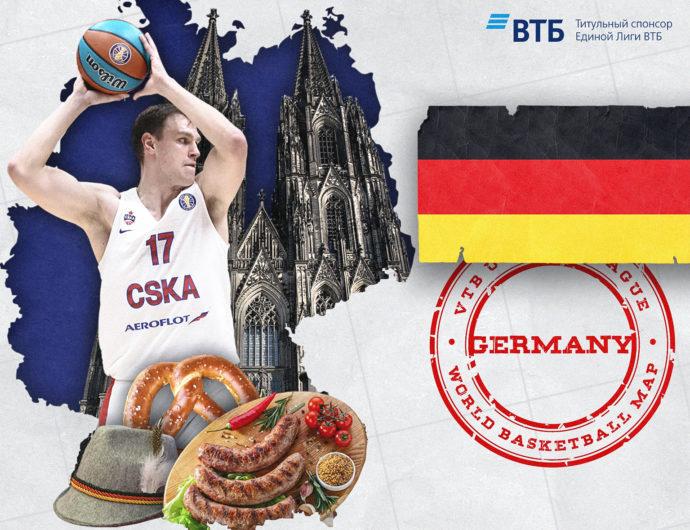 World basketball map: Germany