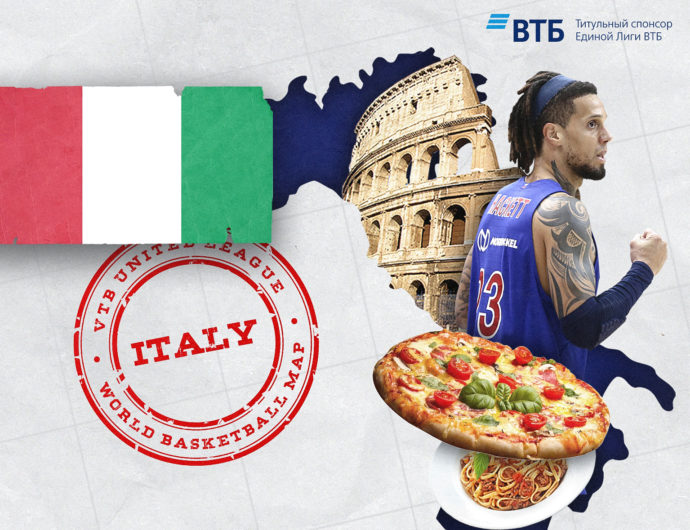 World basketball map: Italy
