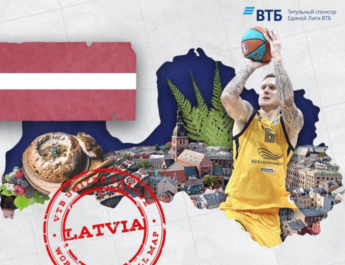 World basketball map: Latvia