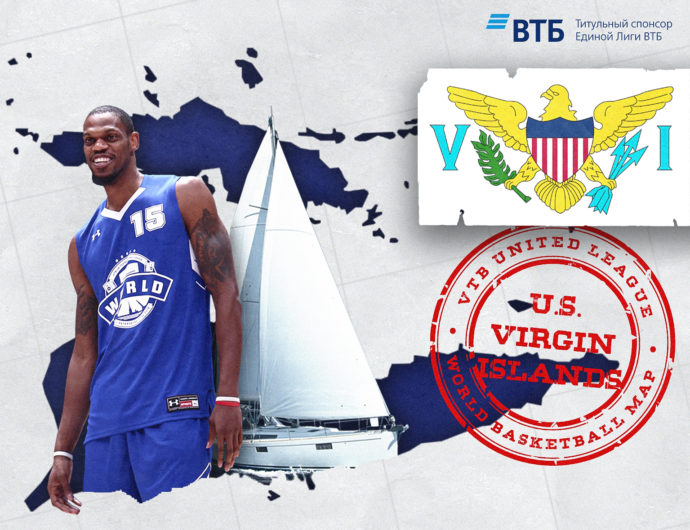 World basketball map: The United States Virgin Islands