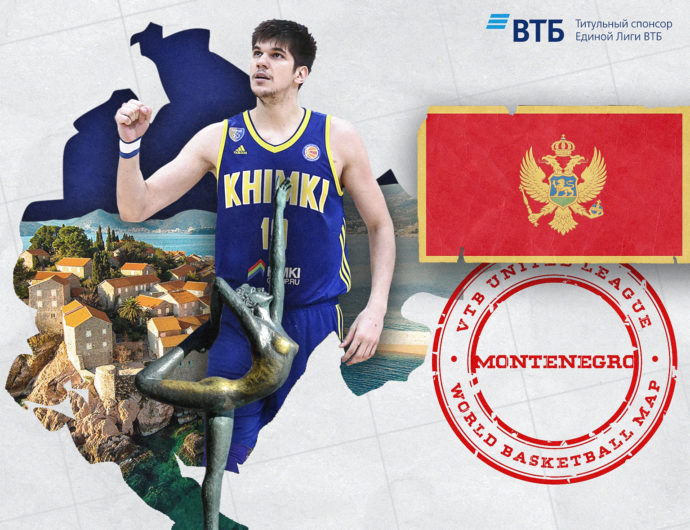 World basketball map: Montenegro