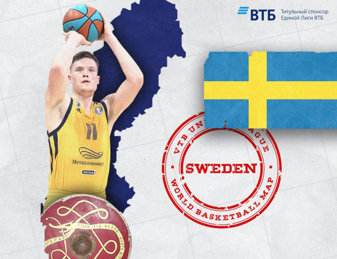 Basketball map of the world: Sweden