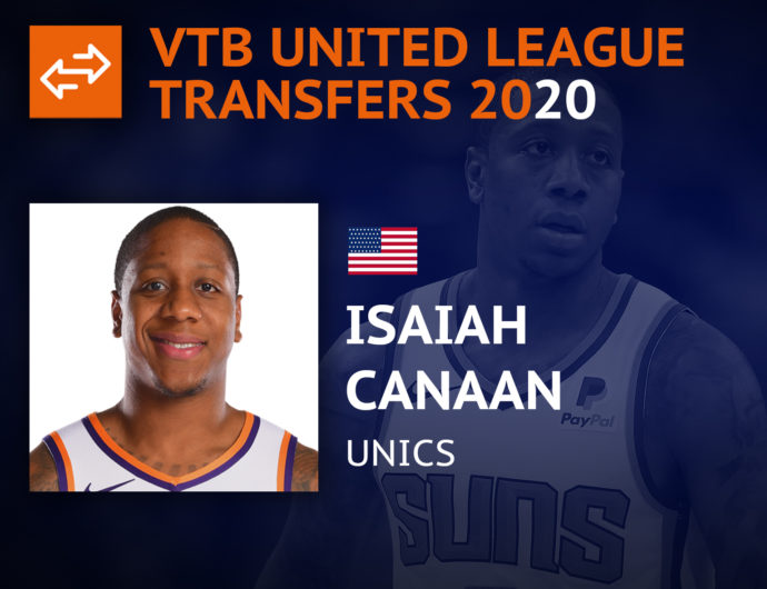 Newcomers 2020. Isaiah Canaan
