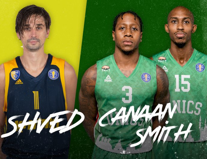 Alexey Shved against Jamar Smith and Isaiah Canaan. VIDEO